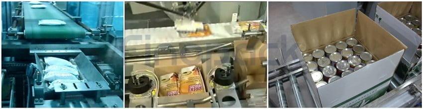 Box arranging conveyor